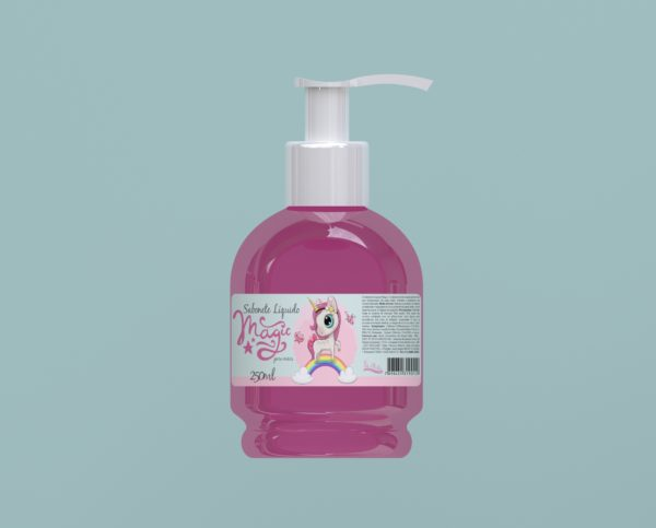 Sabonete Líquido Magic Rosa 250ml com Válvula